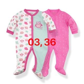 Set 2 Bộ Body Dài Tay Liền Tất Baby Gear Hàng Xuất Dư Đẹp Cho Bé Gái thumbnail