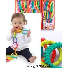 Hình ảnh Set 24 vòng gặm treo nối lots & link xuất khẩu Mỹ đồ chơi cho bé