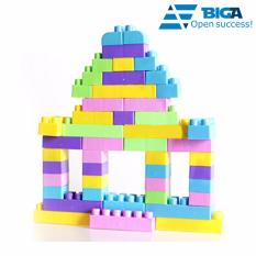 Hình ảnh Set 90 Miếng Nhựa Lắp Ghép Sáng Tạo Cho Bé 1 - 6 Tuổi (Miếng lớn an toàn cho bé) US04632