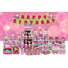Hình ảnh set bàn tiệc chủ đề gà hồng