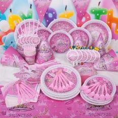Hình ảnh Set bàn tiệc trang trí sinh nhật Công chúa