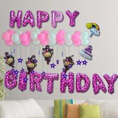 Hình ảnh Set bóng trang trí sinh nhật cho bé, tặng kèm 10 bóng tạo hình