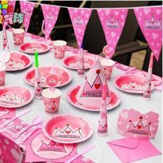 Hình ảnh Set trang trí sinh nhật cho bé yêu ( Vương Miện Hồng)