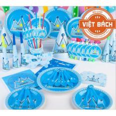 Hình ảnh Set trang trí sinh nhật để bàn hình Vương Miện 13 món