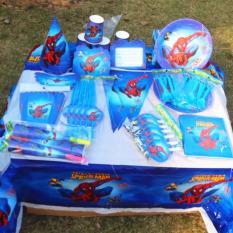Hình ảnh Set trang trí sinh nhật hình Người Nhện