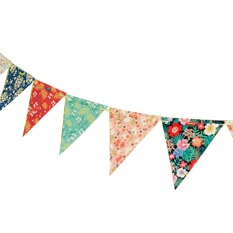 Hình ảnh Shabby Chic / Country Vintage Style Floral Craft Bunting Kit, Party'S, Wedding - intl