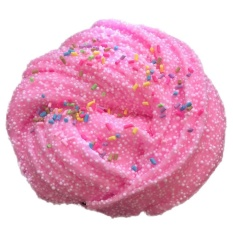 Hình ảnh Snow Flake Foam Chocolate DIY Stress Relief Slime Cotton Mud Sludge Toy(Pink) - intl