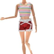 Hình ảnh Bộ Đồ thể thao cho Barbies Búp Bê Barbies Thể Thao Quần Ngắn and Áo Vest Thời Trang-quốc tế