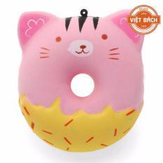 Hình ảnh Squishy-Bánh Donut hình thú ngộ nghĩnh (10x10cm)