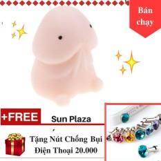 Hình ảnh Squishy mochi - Con Ciu Ngộ Nghĩnh (loại không có móc khóa) Tặng nút chống bụi hình kim cương cho điện thoại Sun Plaza