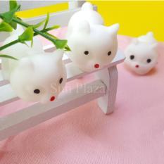 Hình ảnh ► Squishy ◄ Mochi Squishy Cáo Hồ Ly (Trắng) - (Shop còn rất nhiều loại Squishy như gấu trúc, minion, gato, mochi squishy...)