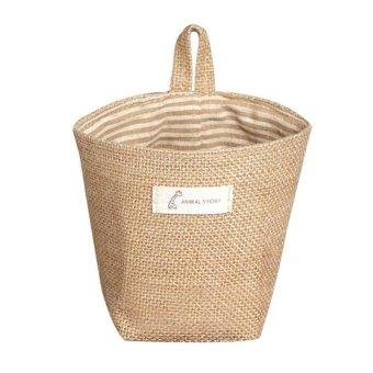 Túi bảo quản Vải Lanh Cotton Hàng Mềm Mại Thoáng Khí Sọc Túi Bảo Quản-Dải Màu Vàng-quốc tế