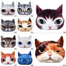 Hình ảnh Stuffed Plush 3D Cute Cat Face Throw Pillow Cover Home Decor Car Cushion Case - intl