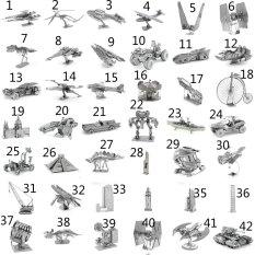 Hình ảnh (Phong cách 16) MINI 3D Kim Loại Đồ Chơi Ghép Hình cho trẻ em Mô Hình Đồ Chơi trẻ em bằng thép không gỉ DIY mô hình 3D ba chiều ghép- quốc tế