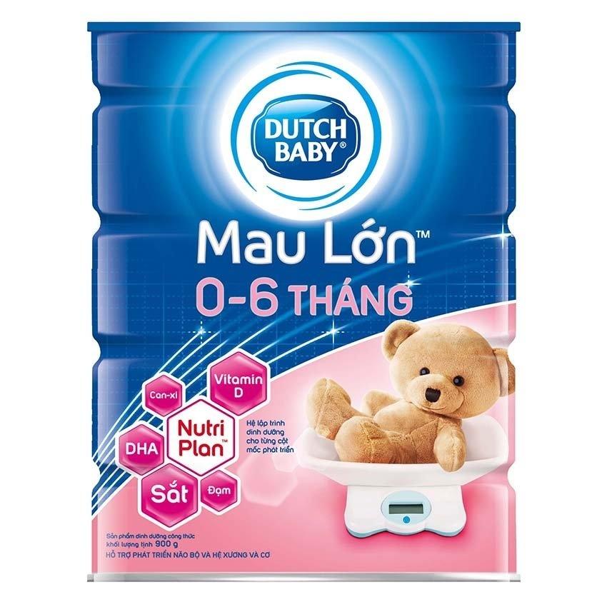 Sữa Bột Dutch Baby Mau Lớn 900G