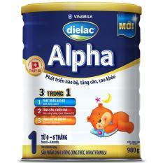 Giá Bán Rẻ Nhất Sữa Bột Vinamilk Dielac Alpha 1 Hộp Thiếc 900G