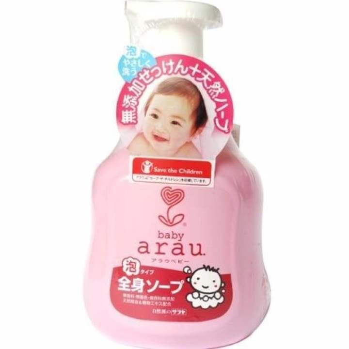 Sữa Tắm Gội Bọt Cho Em Bé Arau Baby 450Ml