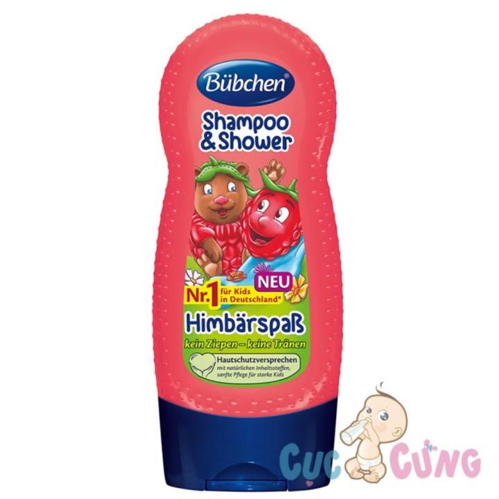 Sữa tắm gội chung mùi quả Dâu đất Bubchen cho...