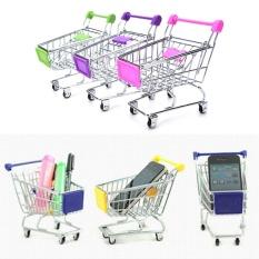 Hình ảnh Supermarket Mini Shopping Cart Full Grocery Food Play House Toy Playset - intl