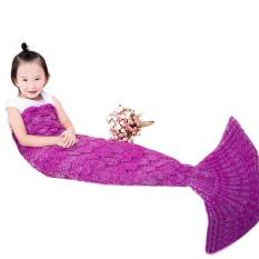 Hình ảnh Sweet Cartoon Animal Mermaid Pattern Girl Child Blanket Sleeping Bag - intl