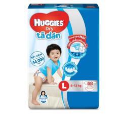 Giá Bán Ta Dan Huggies Dry Super Jumbo L68 Cho Be Từ 8 13Kg Huggies