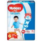 Bán Ta Dan Huggies Dry Xl62 11 16Kg Tặng 6 Miếng Goi Có Thương Hiệu