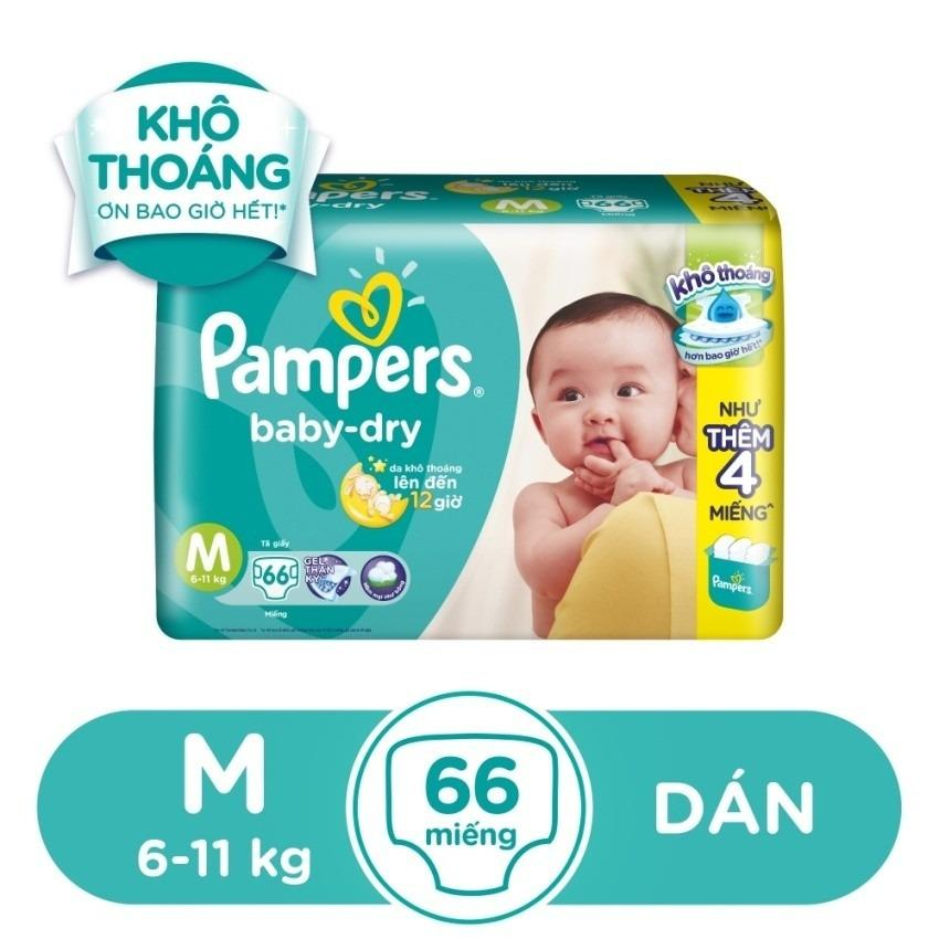Chiết Khấu Ta Dan Pampers Size M 66 Miếng 6 11Kg Pampers