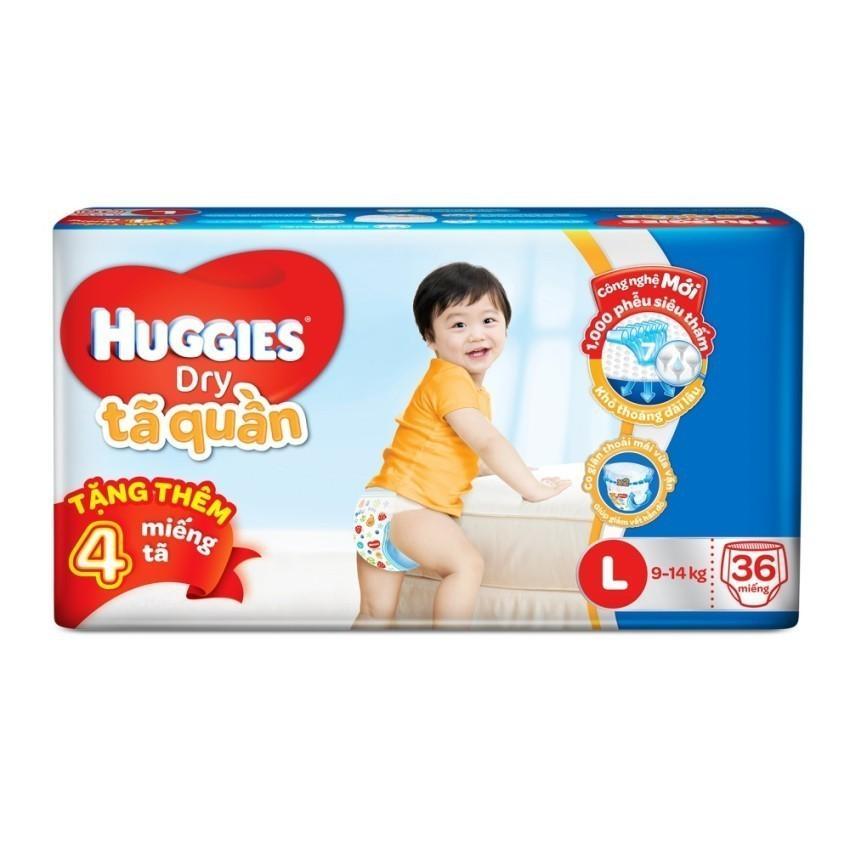 Bán Ta Quần Huggies Dry Pants Jumbo L36 9 14Kg Tặng 4 Miếng Goi Huggies Nguyên