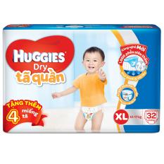 Bán Ta Quần Huggies Dry Pants Jumbo Xl32 12 17Kg Tặng 4 Miếng Goi Có Thương Hiệu Nguyên