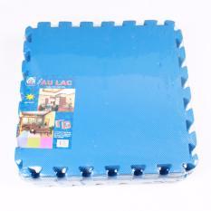 Hình ảnh Thảm xốp ghép ÂU LẠC 1 màu cao cấp 9 miếng 40 x 40 cm( xanh)