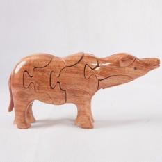 Hình ảnh Thú gỗ lắp ghép 3D hình chú trâu TGT08