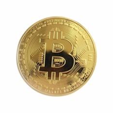 Hình ảnh Tiền Đồng Xu Bitcoin Mạ Vàng