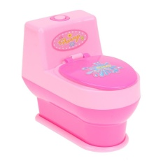 Hình ảnh Toilet Mini Simulation Kitchen Toys Kids Children Pretend Play House Toy - intl