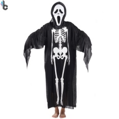Hình ảnh Trang Phục Hóa Trang Halloween Xương Người và Mặt Nạ Đầu Lâu Rùng Rợn TOMSOO 1PC Dành Cho Nam Nữ - Quốc Tế