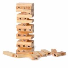 Trò chơi rút gỗ 54 thanh Verygood (Nâu gỗ)