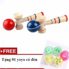 Trò chơi tung bóng Kendama số 1 Nhật Bản loại lớn 15x6cm - Tặng 01 yoyo có đèn Nhật Bản