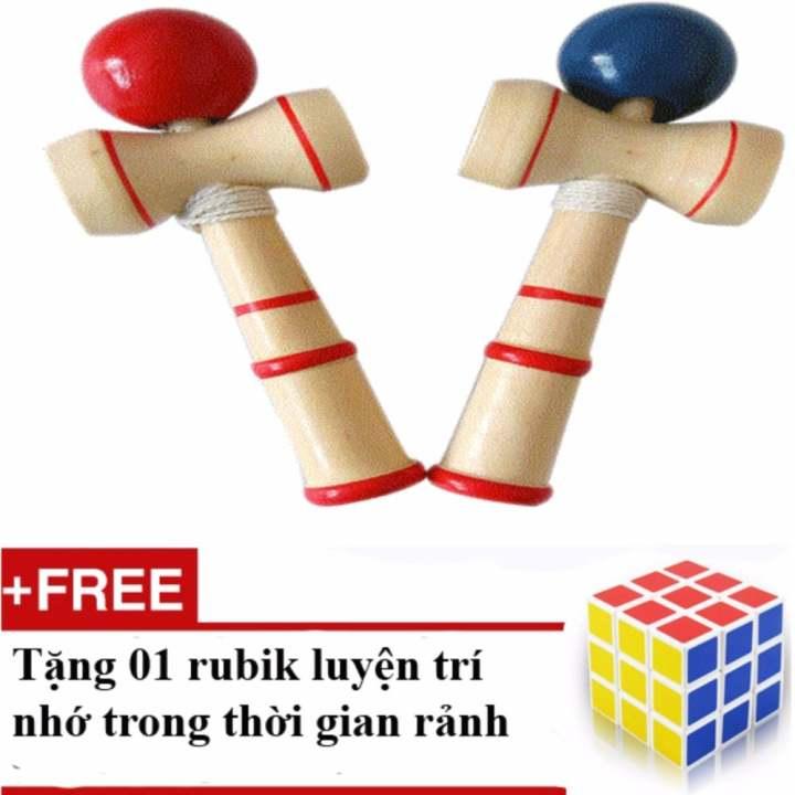 Trò chơi tung bóng Kendama số 1 Nhật Bản - Tặng 01 rubik 3x3 trơn, nhạy