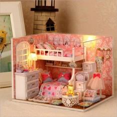 Hình ảnh Tự Ghép Nhà Búp Bê DIY - Phòng Ngủ Màu Hồng Công Chúa (PN2T-03)