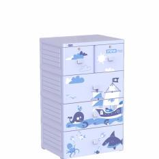 Giá Bán Rẻ Nhất Tủ Nhựa Duy Tan Mina 4 Tầng Xanh Dương