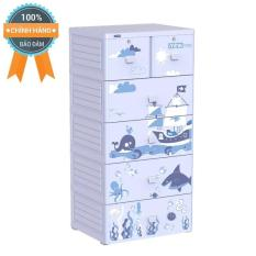 Tủ nhựa Duy Tân MINA 5 tầng (Xanh Đại Dương)- Hỗ trợ ráp tủ miễn phí nội thành Hồ Chí Minh