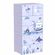 Mua Free Ship Tủ Nhựa Duy Tan Mina 5 Tầng Xanh Dương Đại Dương Duy Tân