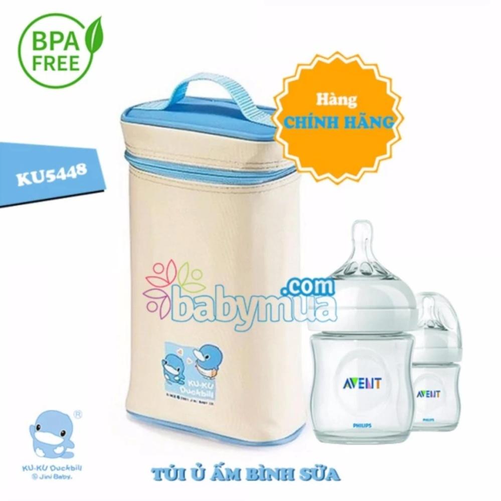 Túi ủ ấm bình sữa 2 bình Kuku ku5448