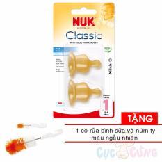 Bán Ty Binh Sữa Nuk Cao Su Cổ Thường Size 1M 2 Cai Hộp Tặng 1 Cọ Rửa Binh Sữa Va Cọ Rửa Num Ty Rẻ Hồ Chí Minh