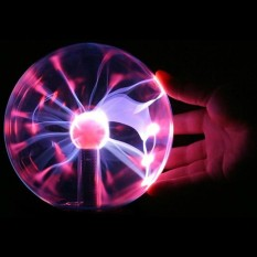 Hình ảnh USB Plasma Ball Sphere Lightning Light Magic Crystal Lamp Globe Laptop - intl