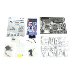 Hình ảnh USTORE 7 In 1 Space Fleet Toys DIY Educational Solar Powered Toys For Children white - intl