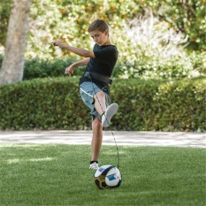 Vanker-Adjustable Soccer Solo Skills Trainer Kick Practice Aid Fit Ball 3/4/5 For Child Adult 1 By Vanker