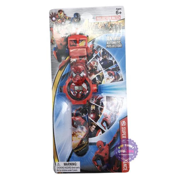 Vỉ đồ chơi đồng hồ người nhện chiếu hình ảnh lên tường - ĐỒ CHƠI CHỢ LỚN