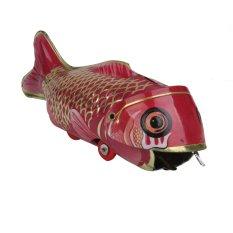 Hình ảnh Vintage Sắt Tấm Wind-up Cá Lớn Ăn Cá Nhỏ Collectable Tín Đồ Chơi-Quốc Tế-quốc tế