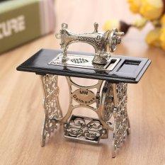Hình ảnh Vintage Miniature Dollhouse Sewing Machine Furniture Table Metal Home Decoration - intl