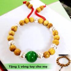 Vòng Dâu Tằm 7,9 Bi Bạc Trừ Tà Cho Bé Trai, Gái + Tặng Kèm